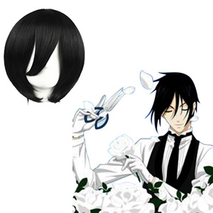 Black Butler The Bath Black 35cm Cosplay Wigs