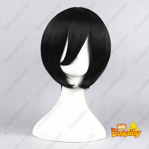 블리치 Kuchiki Rukia 검은 35cm 코스프레 가발