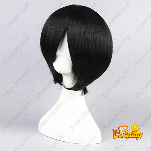 Bleach Kuchiki Rukia Čierna 35cm Cosplay Parochne