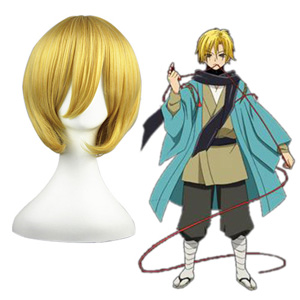 Nura Rise of the Yokai Clan Dourado 32cm Perucas Cosplay