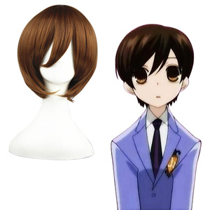 Ouran High School Host Club Marrom 32cm Perucas Cosplay