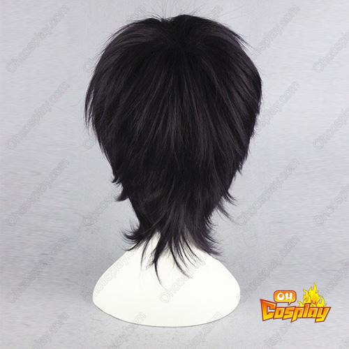 은혼 Takasugi Shinsuke 보라색 검은 30cm 코스프레 가발