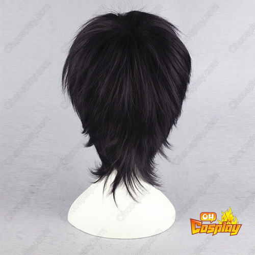Gin Tama Takasugi Shinsuke Roxa black 30cm Perucas Cosplay