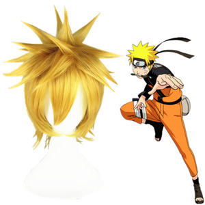 Naruto Uzumaki Naruto Light Blonde 35cm Fashion Cosplay Wigs