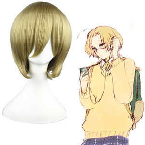 Axis Powers Hetalia Matthew Williams Di lino 32cm Parrucche Cosplay