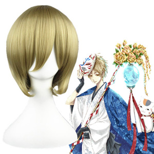 Natsume's Book of Friends Natsume Takashi Flachsfarben 32cm Cosplay Perücken