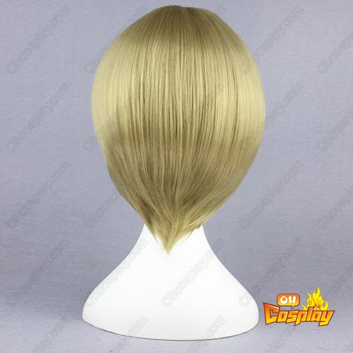 Gin Tama Okita Sougo Flaxen 32cm Full Cosplay Wig