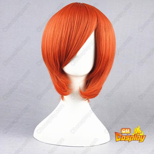 원피스 Nami 주황색 35cm 코스프레 가발