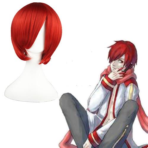 Vocaloid Akaito Escuro Vermelho 32cm Perucas Cosplay