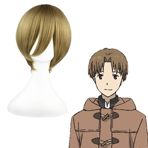 The Prince of Tennis Hiyoshi wakashi ľanový 35cm Cosplay Parochne