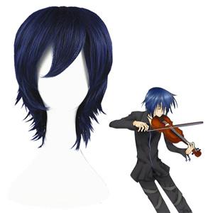 Pelucas Shugo Chara Tsukiyomi Ikuto Azul Oscuro Cosplay