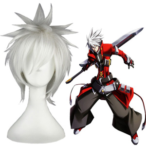 BlazBlue Ragna White Fashion Cosplay Wigs