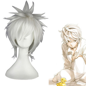 Death Note Nate River White Cosplay Wig