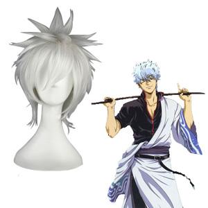 Gintama Sakata Gintoki Weiß Faschings Cosplay Perücken