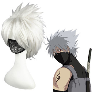 Naruto Hatake Kakashi Argent Perruques Carnaval Cosplay