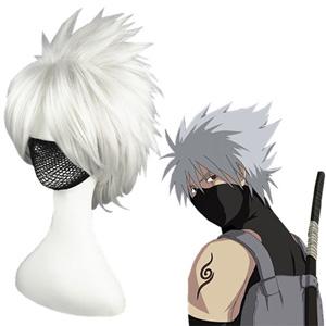 Naruto Hatake Kakashi Silver Cosplay Wigs