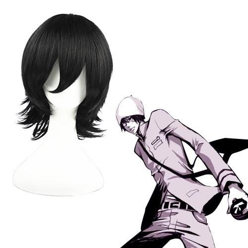 Hitman Reborn Kakimoto Chikusa Schwarz 32cm Cosplay Perücken