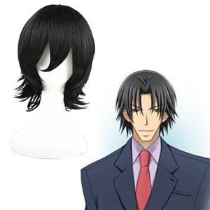 Sekai-ichi Hatsukoi Isaka Ryuuichirou Črna 32cm Cosplay Perika
