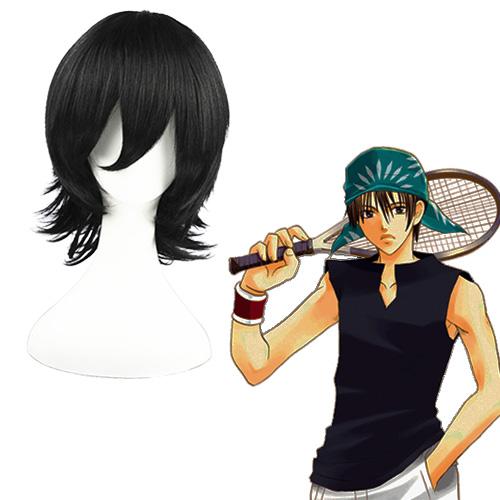 The Prince of Tennis Kaidoh Kaoru Preto 32cm Perucas Cosplay
