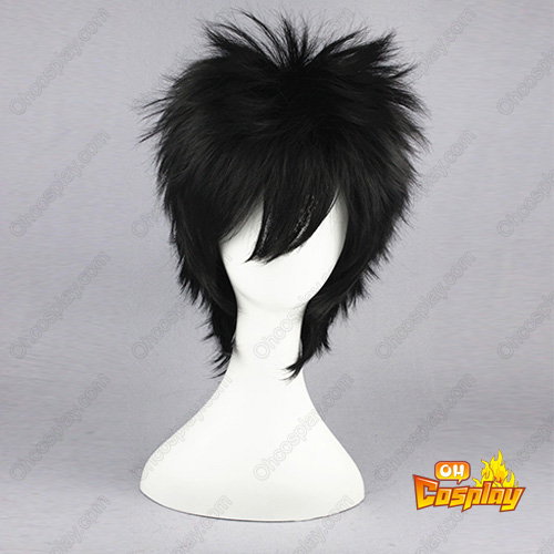 나루토 Aburame Shino 검은 35cm 코스프레 가발