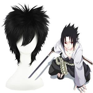 나루토 Uchiha Sasuke 검은 35cm 코스프레 가발