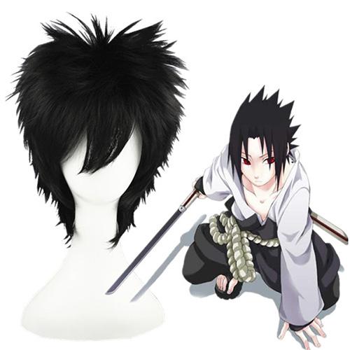 Naruto Uchiha Sasuke Schwarz 35cm Cosplay Perücken