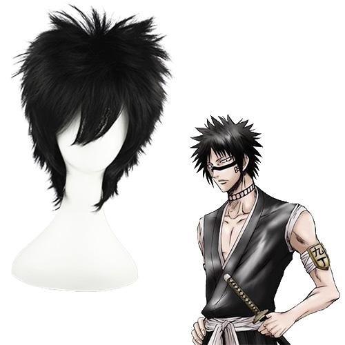 블리치 Hisagi Shuuhei 검은 35cm 코스프레 가발
