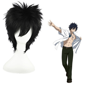 Fairy Tail Gray Fullbuster Black 35cm Cosplay Wigs