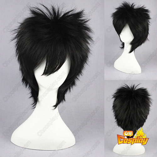 Fairy Tail Gray Fullbuster Black 35cm Cosplay Wig