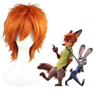 Zootopia Nick Wilde D'orange Perruques Carnaval Cosplay