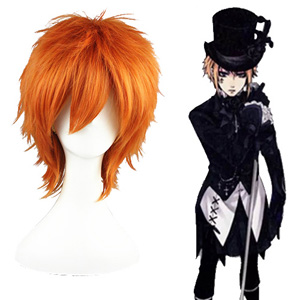 Black Butler Drocell Caines Orange Fashion Cosplay Wigs