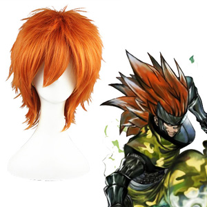 Naruto Sarutobi Sasuke Orange Cosplay Wigs