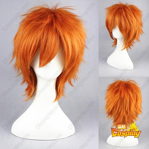 Shugo Chara Souma Kuukai Oranje Cosplay Pruiken