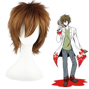 Shiki Draugr Toshio Ozaki maroon 30cm Cosplay Wigs