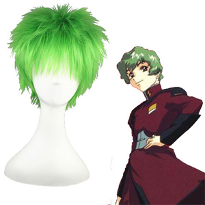 Gundam Seed Nicol Amarfi Mixed emerald 32cm Perucas Cosplay