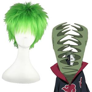 NARUTO Zetsu Mixed emerald 32cm 코스프레 가발