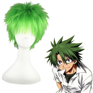 The Law of Ueki Kosuke Ueki Mixed emerald 32cm Cosplay Peruker