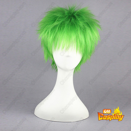 The Law of Ueki Kosuke Ueki Mixed emerald 32cm Cosplay Perücken