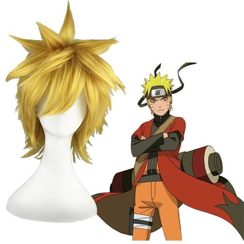 NARUTO Uzumaki Naruto Laranja 30cm Perucas Cosplay