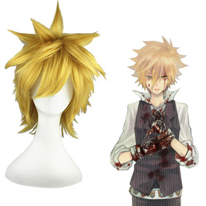 HITMAN REBORN Giotto Orange 30cm Full Cosplay Wig