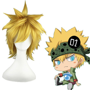 Hitman Reborn! Colonnello Apfelsine 30cm Faschings Cosplay Perücken