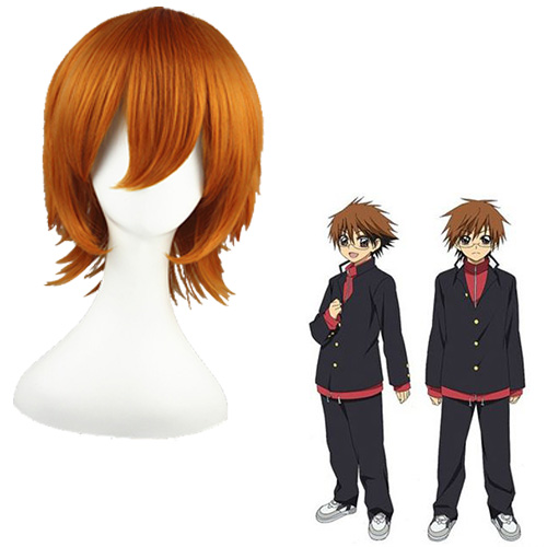 Sun slippery Ghost Mixed Brun 32cm Cosplay Parykker