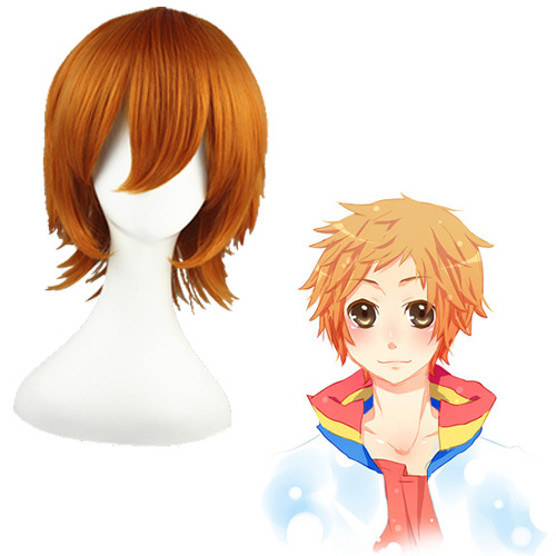 Starry Sky Haruki Haoshi Mixed Marrom 32cm Perucas Cosplay