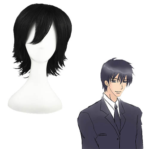 Innocent Romance Kusama wild points Black 32cm Full Cosplay Wig