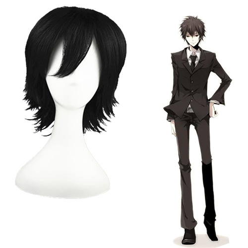 HITMAN REBORN Hibari Kyōya after 10 years Zwart 32cm Cosplay Pruiken