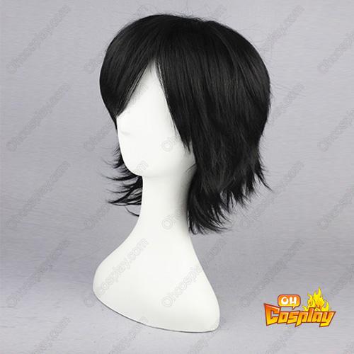 HITMAN REBORN Hibari Kyōya Black 32cm Full Cosplay Wig
