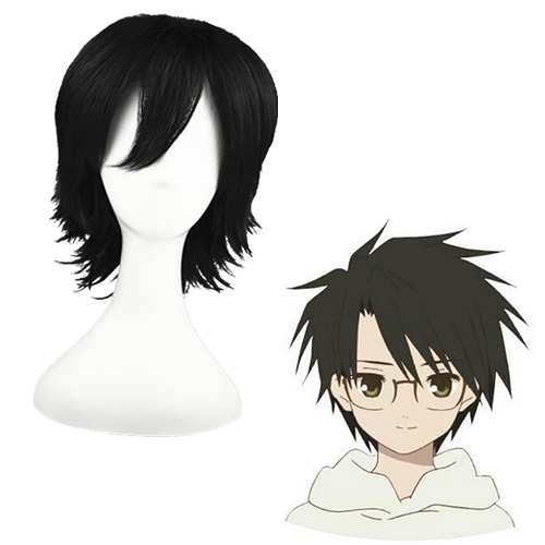 Rozen Maiden Sakurada pure Black 32cm Full Cosplay Wig