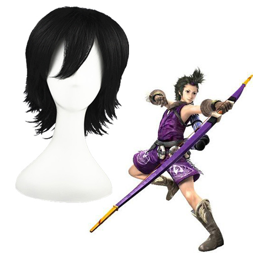Devil Kings Mori Ranmaru Black 32cm Full Cosplay Wig