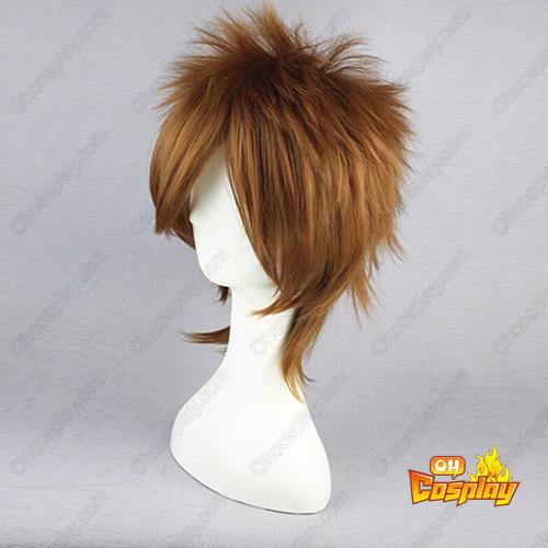 Hakuoki Nagakura Shinpachi Mixed 갈색 35cm 코스프레 가발