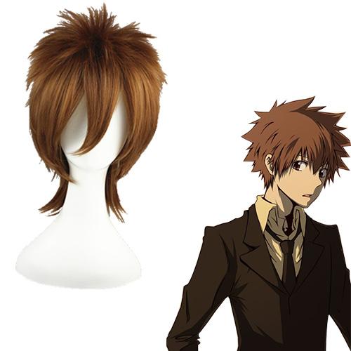 HITMAN REBORN Sawada Tsunayoshi Mixed Brown 35cm Wigs